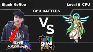 Black Koffee(Donkey Kong) vs Level 9 CPU(Palutena) - Super Smash Bros Wii U