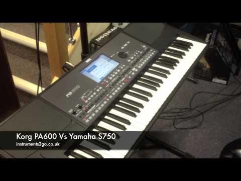 Korg PA600 vs Yamaha S750