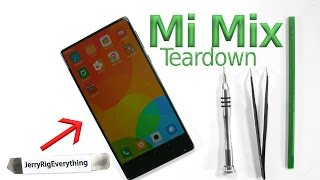 Mi Mix Teardown - Piezoelectric Speaker Test - Screen Replacement