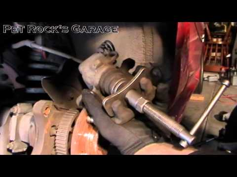 How To Replace Rear Brake Pads & Rotor - Ford Mustang ('94 - '04)