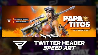 Twitter Header Speed Art | iPhone & Android | Renegade Raider