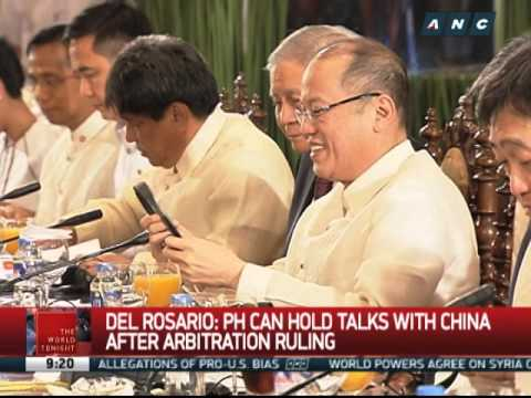 Del Rosario: PH can hold talks with China after case ruling