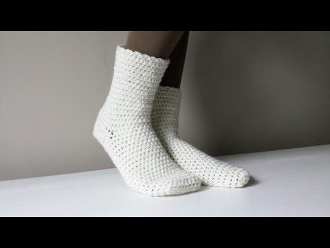 Jak Zrobić Skarpetki Na Szydełku 1/2 Crochet Socks
