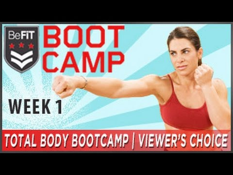 Total Body Bootcamp Fitness Plan: Week 1- Viewer's Choice