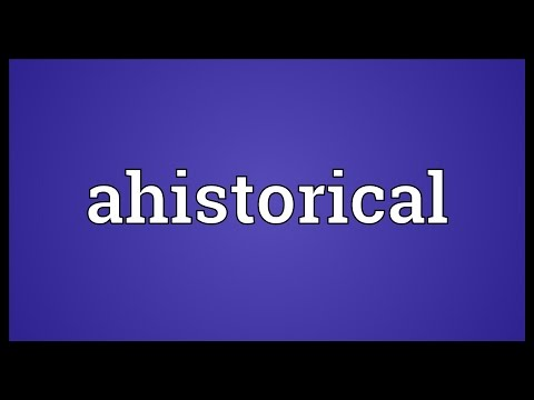 Header of Ahistorical