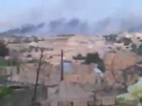 Libyan Civil War 2011: NATO Airstrike in Brega, Libya