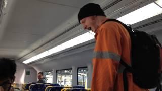 Racist scumbag on a sydney train