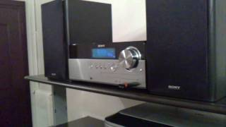 My sony home micro hi fi system, first test