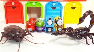 Tayo the Little Bus Gigantic Cockroach Thomas and Chuggignton Kids Funny Story
