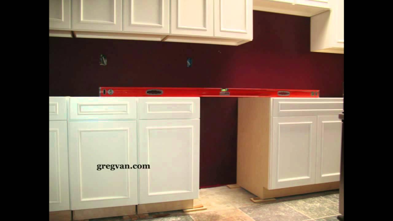 Leveling Base Cabinets - Kitchen Remodeling - YouTube