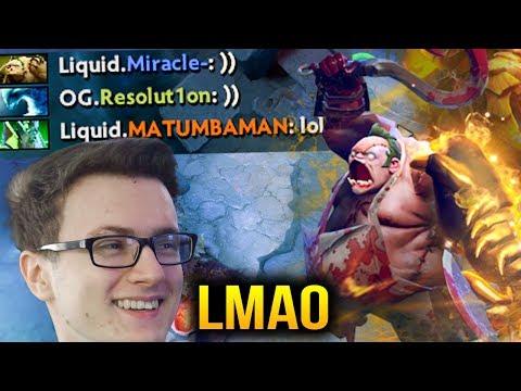Miracle- PUDGE GOD LIQUID VS OG - Funny Pro Game Dota 2 7.07c