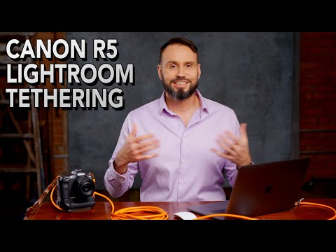 How to tether your Canon EOS R5 in Lightroom Classic using EOS Utility with your Apple computer