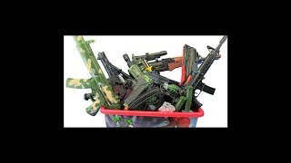 Box  of Guns Toys Compilation ! 1 HOUR MILITARY & POLICE GUN TOYS - Video for Kids