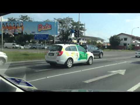 Google Street View car in Kota Kinabalu, Sabah, Malaysia.