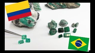 The difference between Colombian and Brazilian emerald quality