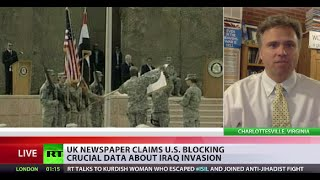 'US withholding Chilcot Inquiry docs as they may discourage future wars US is interested in'