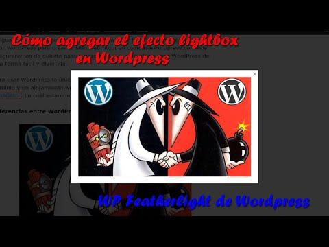 Cómo crear el efecto lightbox en Wordpress con el Plugin WP Featherlight de Wordpress