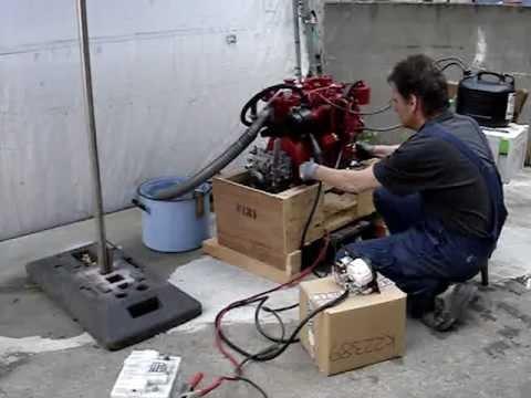 Starting Kubota BD722 Marine Diesel Engine