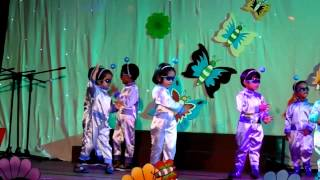 OKI  2014 preschool annual concert- Young Minds Nursery ROBOTIC dance
