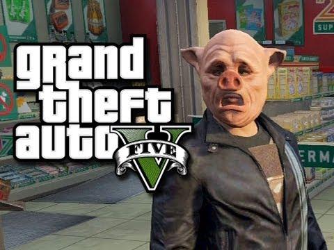 GTA 5 Online!  The Crew vs The Cops! #1 (GTA V Fails and Funny Moments!)