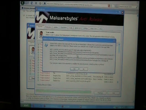 Internet security 2010 (how to get rid of this malware)