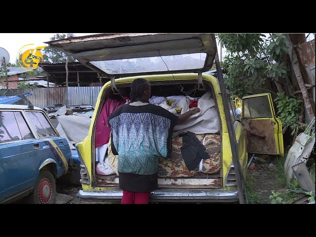 Sad Story Of A Women Who Lives In A Car With Her Children | Fana TV