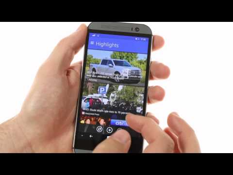 HTC One (M8) for Windows: user interface