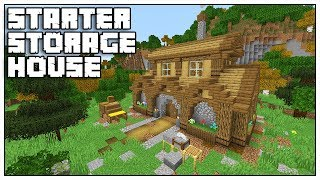 Minecraft 1.14 Starter Storage House Tutorial