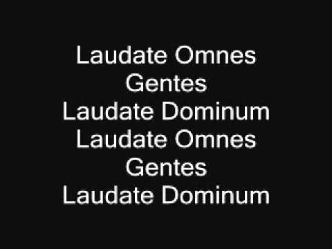Laudate omnes gentes - bass (Taize chant)