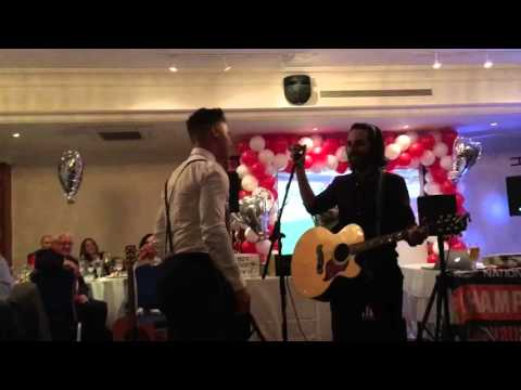 Billy Waters performing 'Angles' & 'Don't look back in Anger' at the end of season dinner