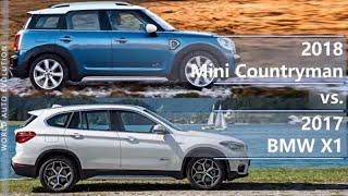 2018 Mini Countryman vs 2017 BMW X1 (technical comparison)