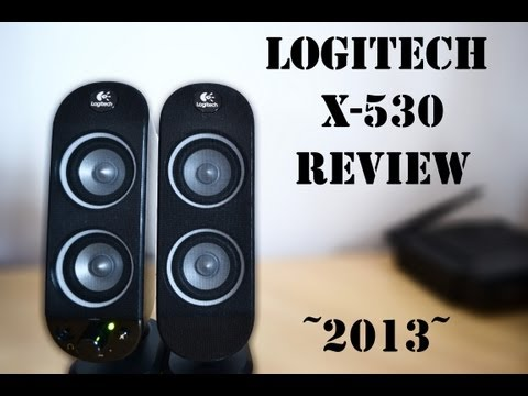 [2013] LOGITECH X-530 SPEAKER SYSTEM REVIEW. TEST ! AdamussX