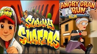 PLAY New - SUBWAY SURFERS - GAME WATCH VS ANGRY GRAN RUN MA HD 2016 / Creative Commons Reuse Allowed