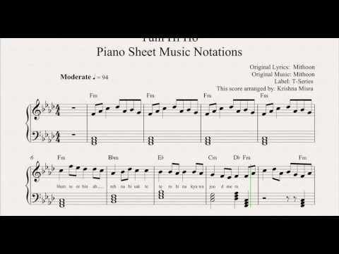Tum Hi Ho Piano Sheet Music Notations From MusicHorizon