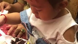 Birthday cake is yummy
