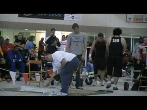 Shot Put 03/06/10 @ Findlay Ohio - 4 High School Thowers over 60' Video