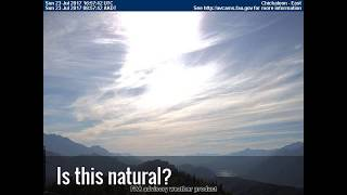 Sky Deception: Planet X System Anomaly Approaches beyond Toxic Clouds. US webcams, July 23, 2017