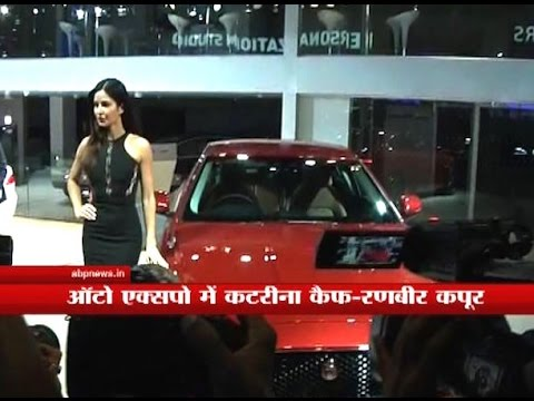 Katrina, Ranbir Kapoor reach Greater Noida for Auto Expo show