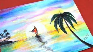 Como desenhar Paisagem e pintar com Aquarela