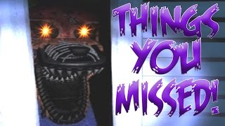 THINGS YOU MISSED! | Five Nights at Freddy's 4 Trailer | Full Analysis