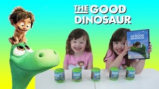 Disney Pixar The Good Dinosaur Movie Surprise Eggs opening Fun video for kids