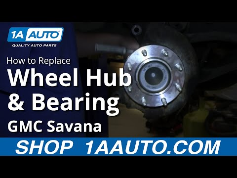 How To Install Replace Front Wheel Hub Bearing 2003-12 Chevy Express GMC Savana 2500