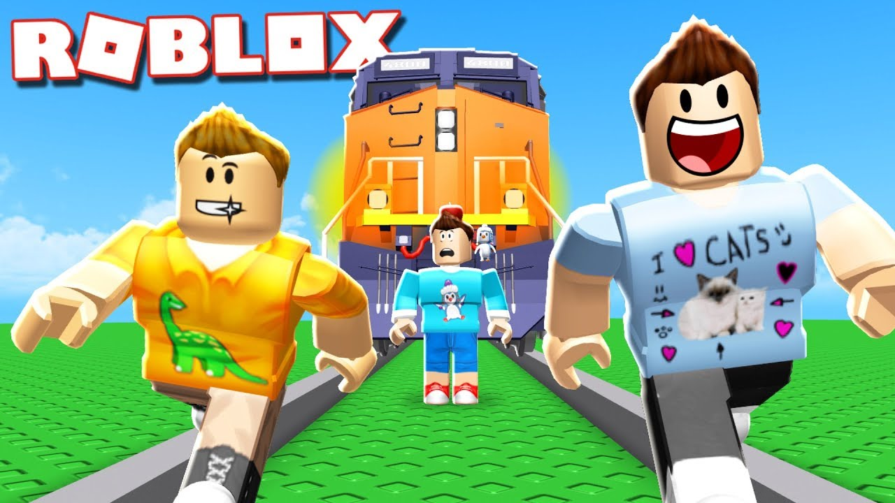 DON'T GET CRUSHED BY A TRAIN IN ROBLOX!
