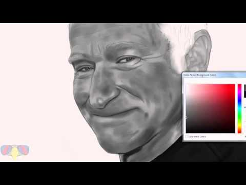 Robin Williams Tribute Speed Painting