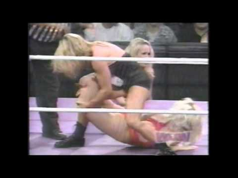 Lynnette Thredgold: Women Of Wrestling - Phantom Vs. Summer & Wendy Wheels video