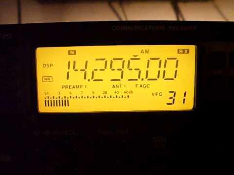 Radio Tajikistan 3rd harmonic, 14295 kHz, 19:55 UTC