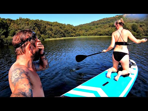 Paddle Boarding With Alice in a Woodland Lake
