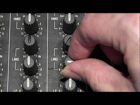 How to use the mixers EQ section