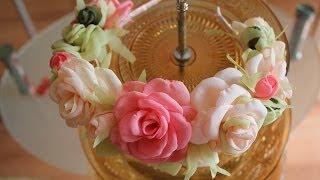 HAIR band with flowers (summer trend ) ✄ Anastasia Kulikova
