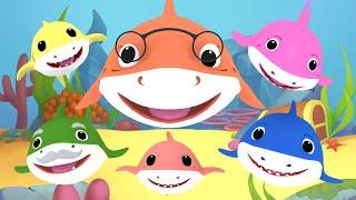 5 Little Sharks Nursery Rhymes | Baby Shark Song & Dance | Baby Shark Family